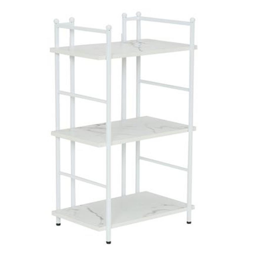 30 in. H x 18 in. W x 12.6 in. D, Narrow, steel frame with Laminate shelves, 3 Shelf Rack