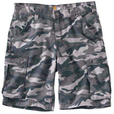 Men's Regular 36 Rugged Gray Camo Cotton  Shorts