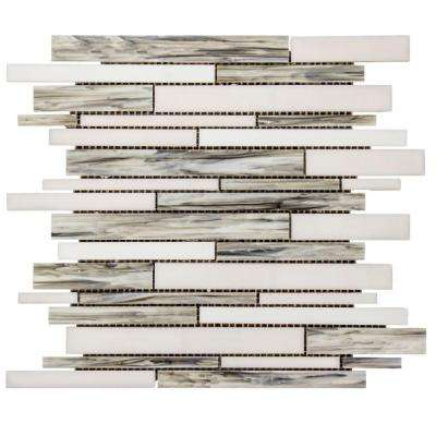 Coastal Skies 14 in. x 11.75 in. x 8 mm Glass Mosaic Wall Tile