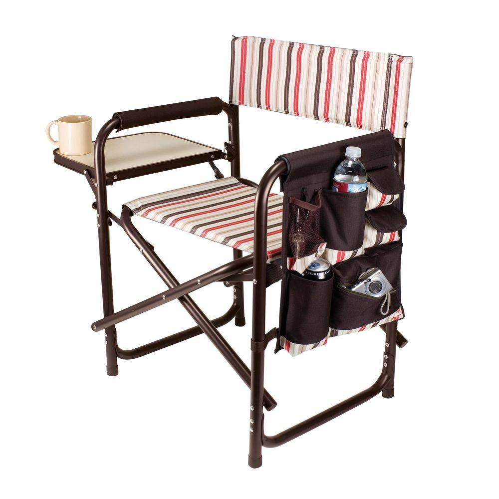 Picnic Time Moka Collection Sports Portable Folding Patio Chair