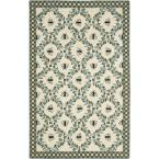Chelsea Ivory/Teal 8 ft. 9 in. X 11 ft. 9 in. Area Rug