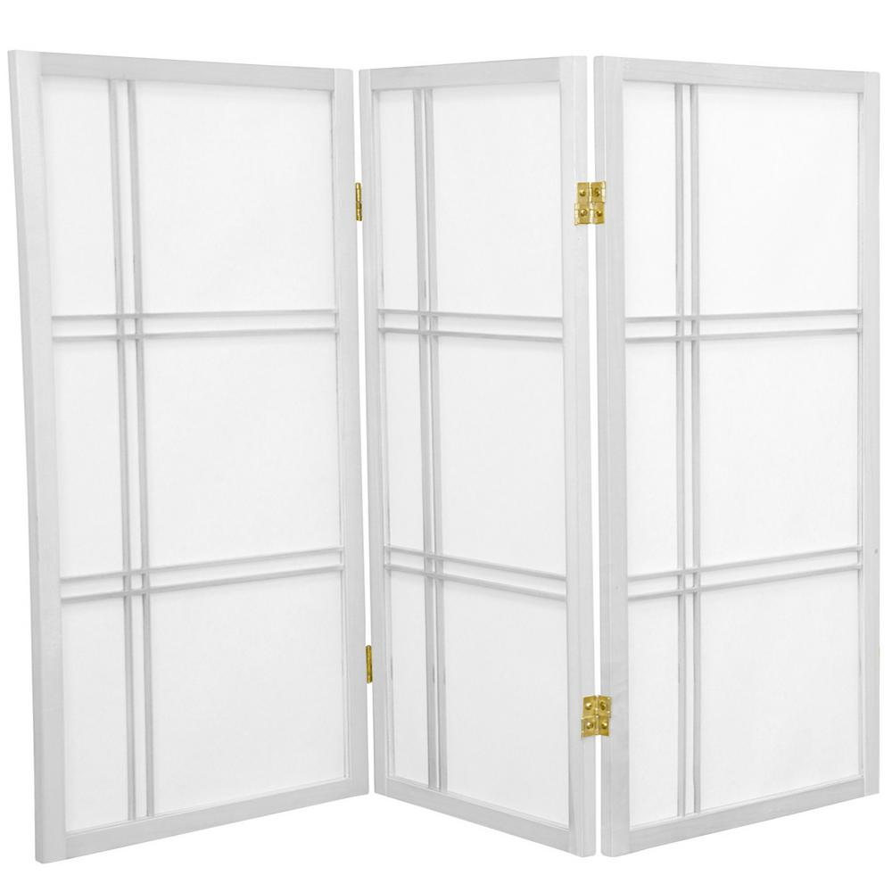3 ft. White 3-Panel Room Divider