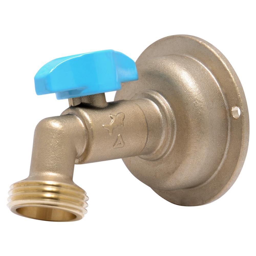 1/2 in. Push-to-Connect x 3/4 in. MHT Brass Quarter-Turn Hose Bibb