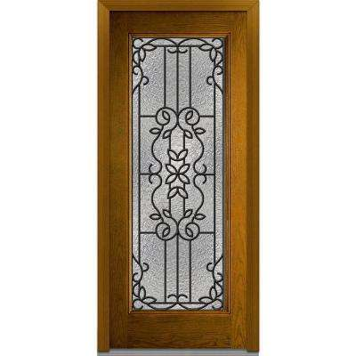 full glass exterior door. Mediterranean Right Hand Full Lite Classic Stained Fiberglass Inswing  Front Doors Exterior The Home Depot