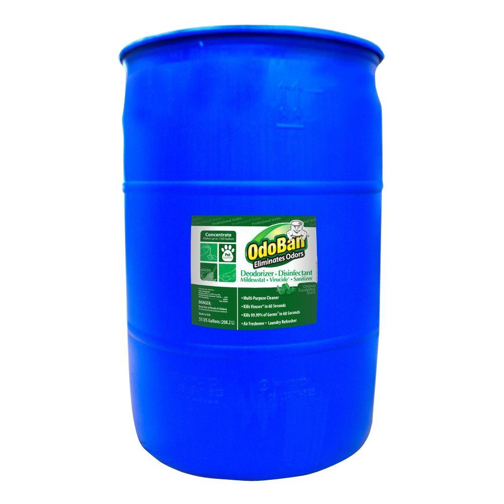 OdoBan 55 Gal. Eucalyptus Disinfectant, Laundry and Air Freshener, Mold and Mildew Control, Multi-Purpose Concentrate