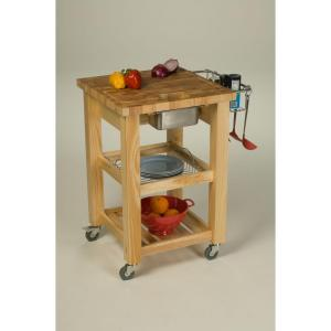 Pro Chef Natural Kitchen Cart With Storage · Chris ...