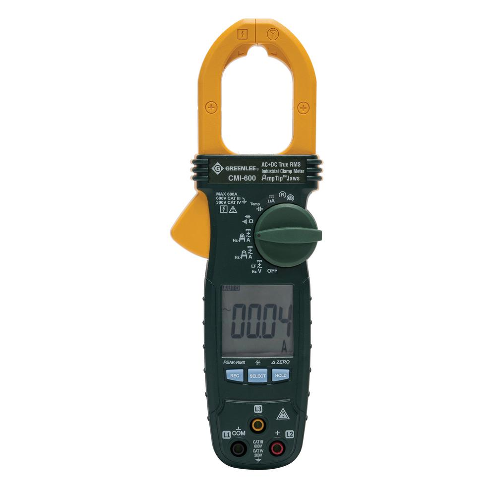 GREENLEE AC - DC 600 Amp Clamp Meter with Phase and Rotation