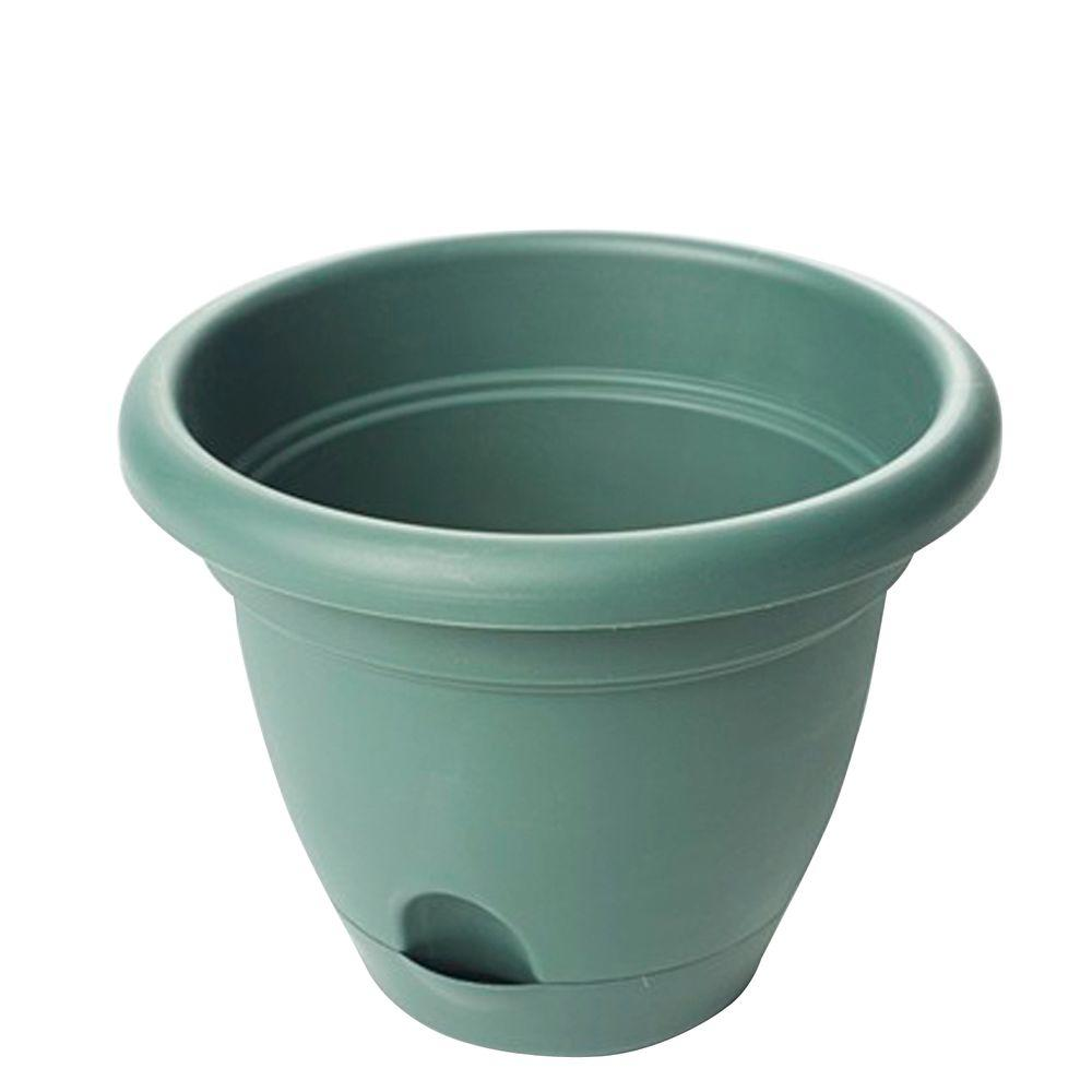 Bloem Lucca 18 in. Round Midsummer Night Plastic Planter (6-Pack)