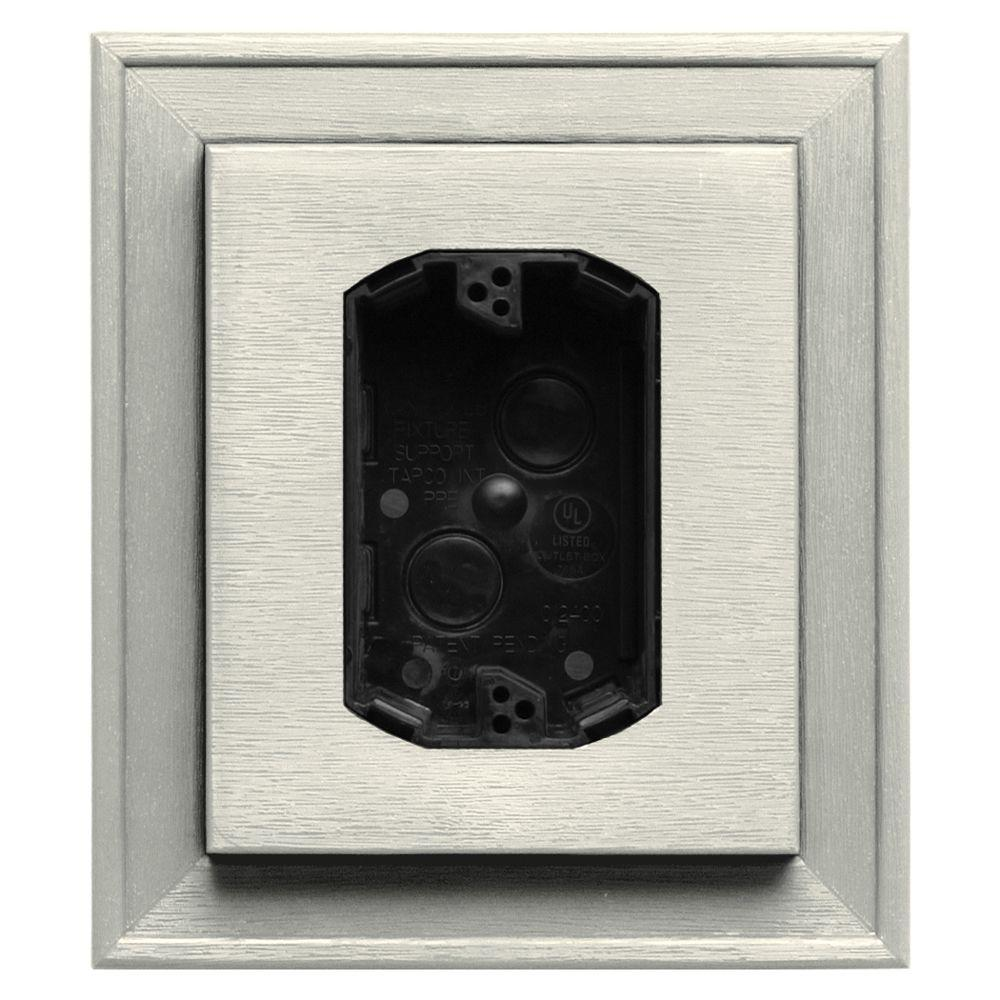 7 in. x 8 in. #034 Parchment Electrical Mounting Block