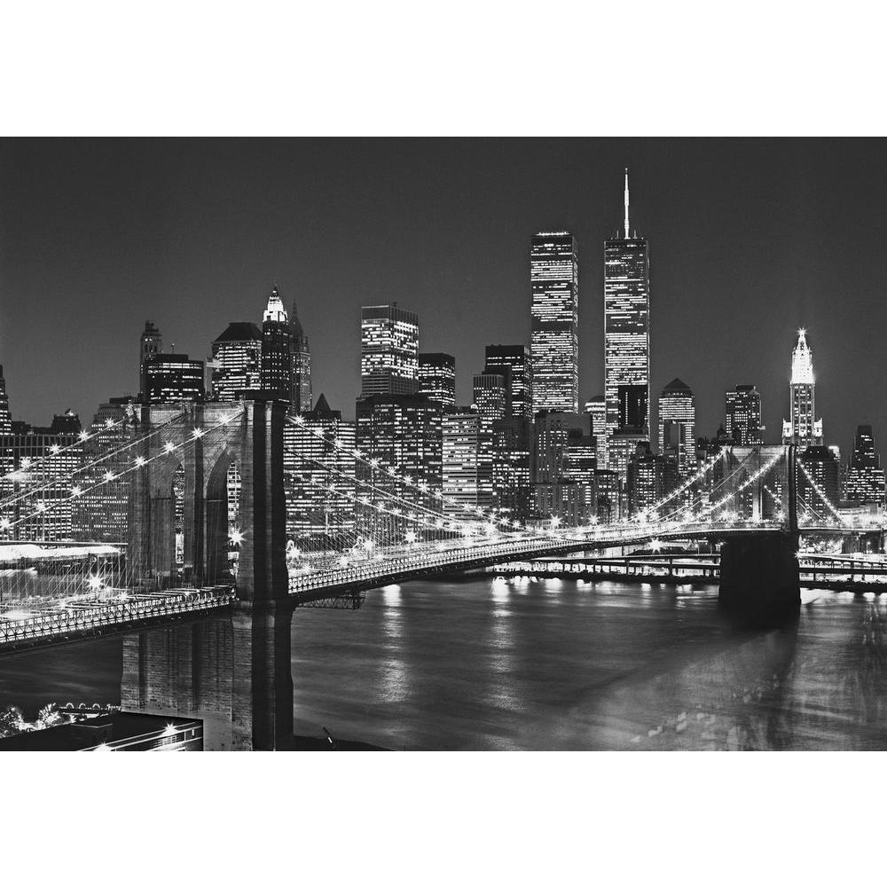 Ideal Decor 100 in x 144 in Brooklyn Bridge Wall Mural DM114 The