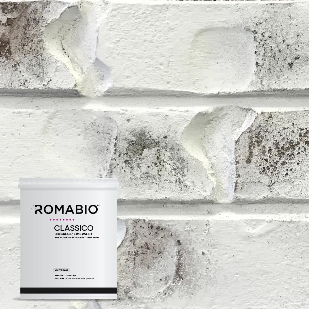 1-qt. Bianco White Limewash Interior/Exterior Paint