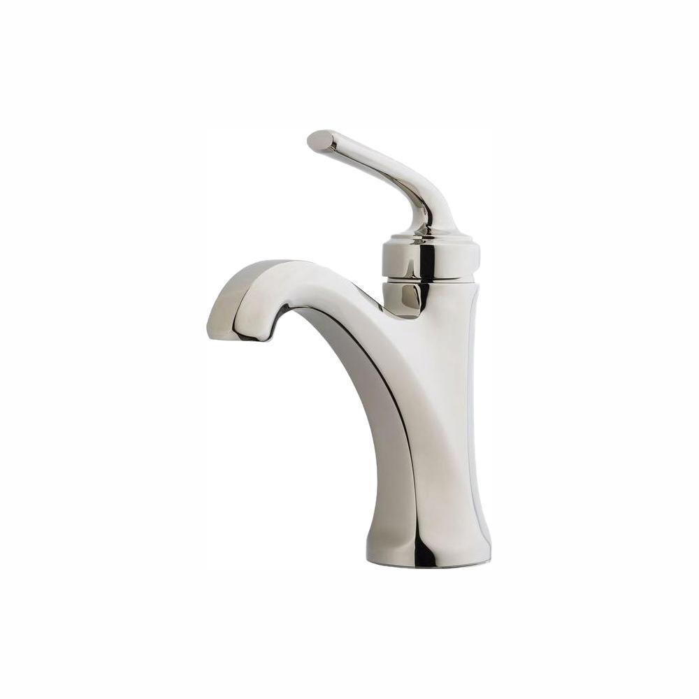 Pfister Arterra 4 in. Centerset Single-Handle Bathroom Faucet in Polished Nickel Pfister Arterra 4 in. Centerset Single-Handle Bathroom Faucet in Polished Nickel