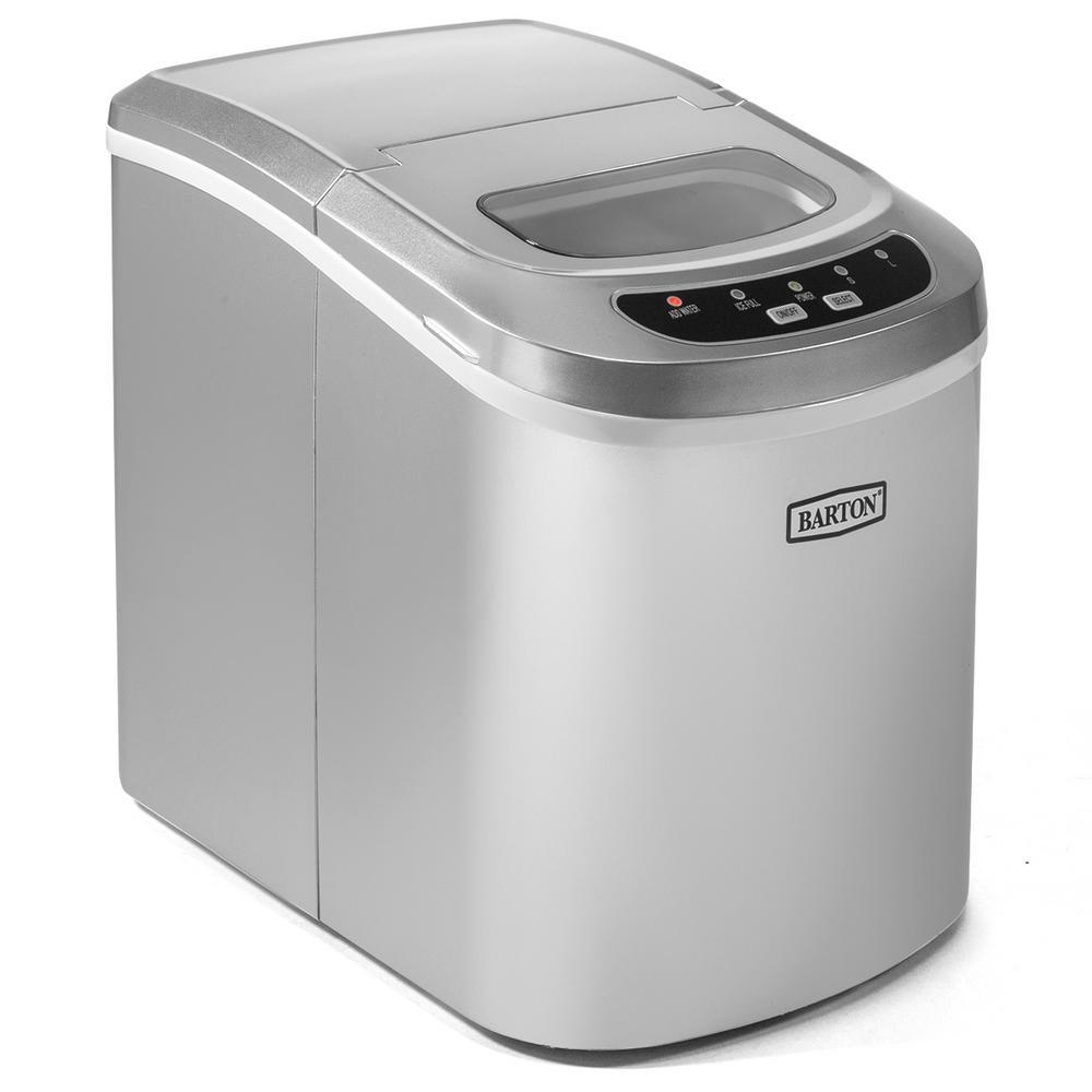 26 lb. Portable Electric Countertop Ice Maker in Silver