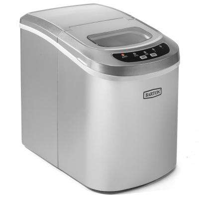 26 lb. Portable Electric Countertop Ice Maker in Silver