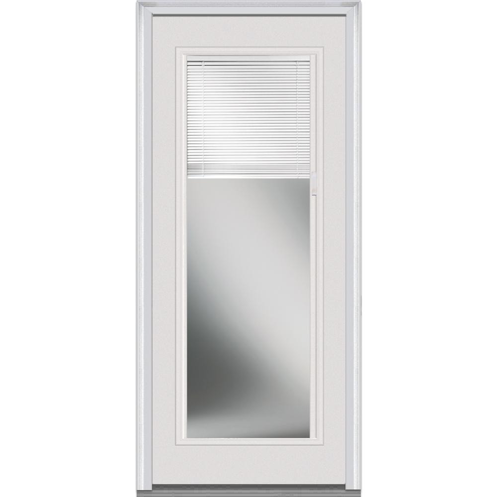 Mmi Door 30 In X 80 In Internal Mini Blinds Left Hand