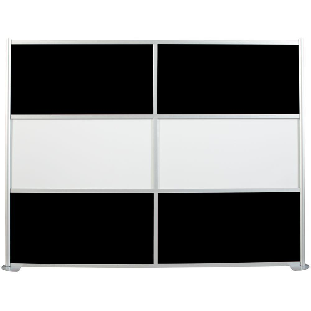 100-1/8 in. x 75-3/8 in. uDivide White and Black 6-Panel Room