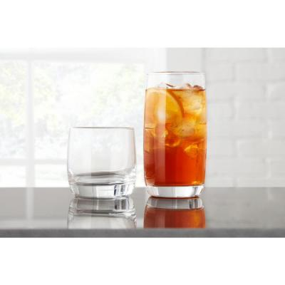 StyleWell 17 fl. oz. and 10 fl. oz. Glass Tumblers (Set of 16)
