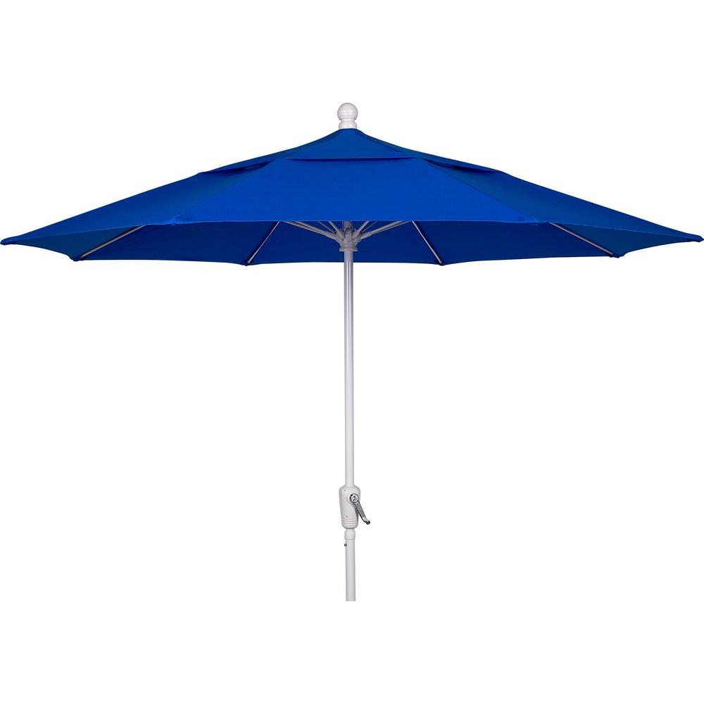 9 ft. Aluminum Patio Umbrella with Pacific Blue Acrylic