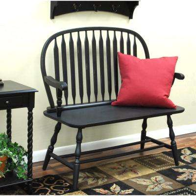 Windsor Antique Black Bench
