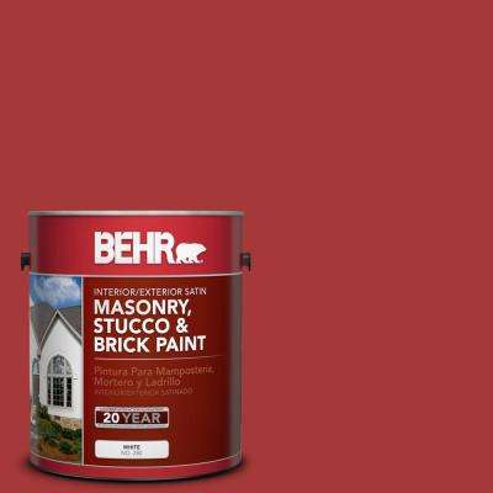 1 gal. #BXC-03 Scarlet Satin Interior/Exterior Masonry, Stucco and Brick Paint