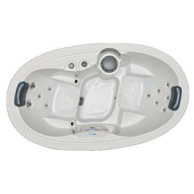 2 Person 13 Jet Oval Spa with Stainless Jets and 110-Volt GFCI Cord Included