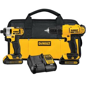 Dewalt 20-Volt MAX Lithium-Ion Cordless Drill/Driver and Impact Combo Kit... by DEWALT