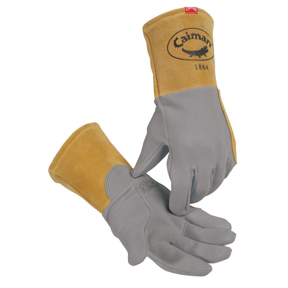 Medium Gray Deer Skin TIG Welding Gloves Unlined