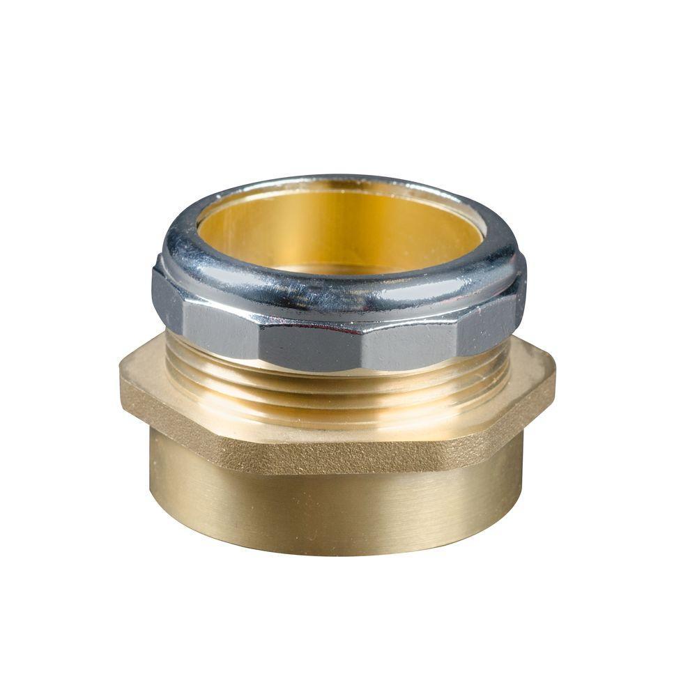 1-1/2 in. Brass Waste Connector