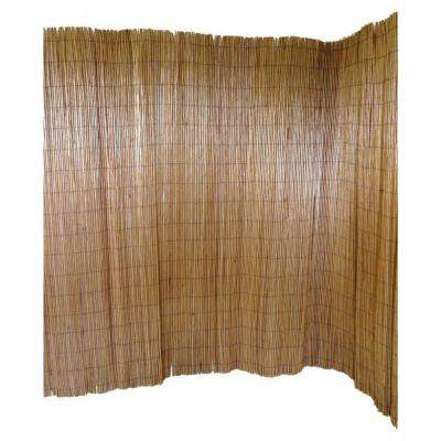6 ft. H x 8 ft. L Peeled Willow Screen Fence in Light Mahogany