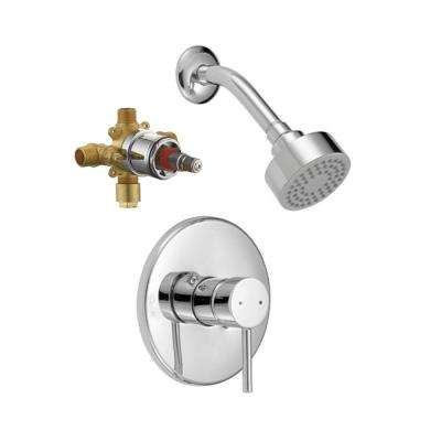 Eastport 1-Handle 1-Spray Tub and Shower Trim Kit in Polished Chrome (Valve Included)