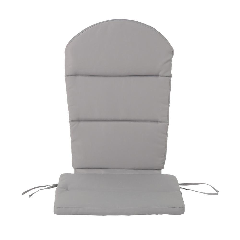 Noble House Malibu Gray Outdoor Adirondack Chair Cushion 304529
