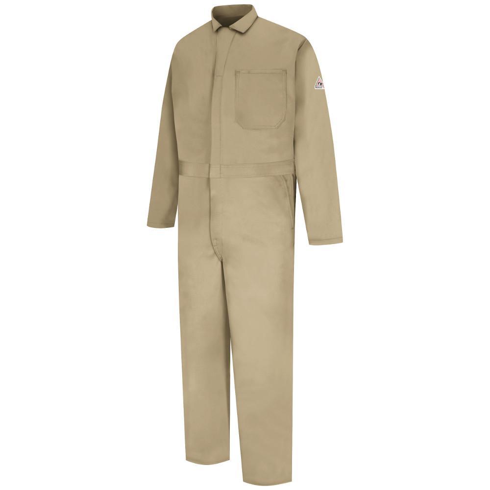 43762250586 Bulwark EXCEL FR Men s Size 54 (Tall) Khaki Classic Coverall-CEC2KH ...