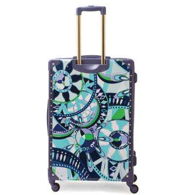 Payload 20 in. Upright ABS Plastic Hard Case Charcoal Spinner Rolling Luggage Suitcase