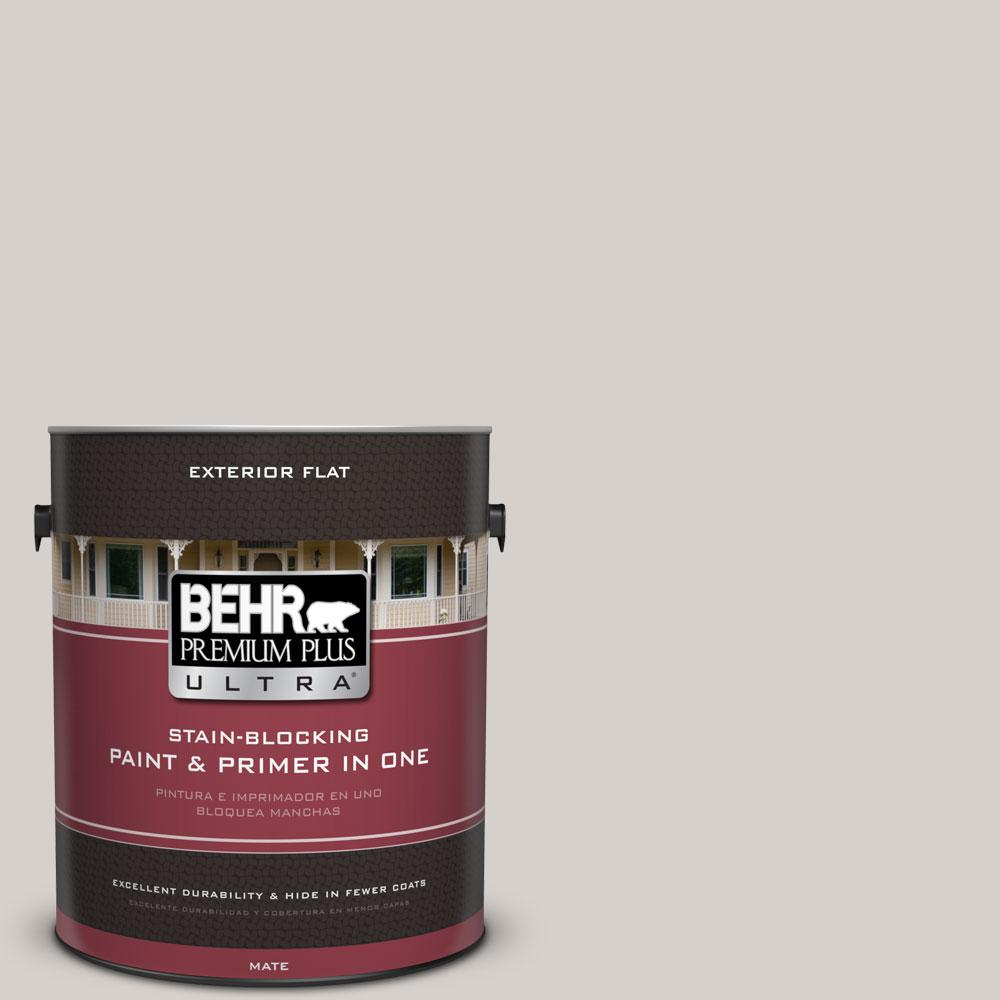 BEHR Premium Plus Ultra 1-gal. #N140-1 White City Flat Exterior Paint