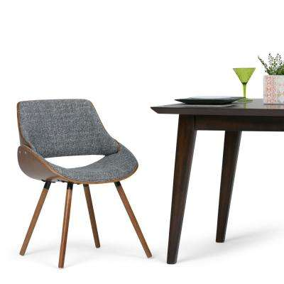 Malden Grey and Natural Woven Fabric Bentwood Dining Chair (Set of 1)
