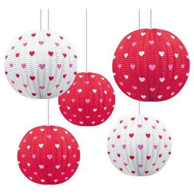 4.5 in. Valentine's Day Mini Lantern Decorations (5-count, 3-Pack)