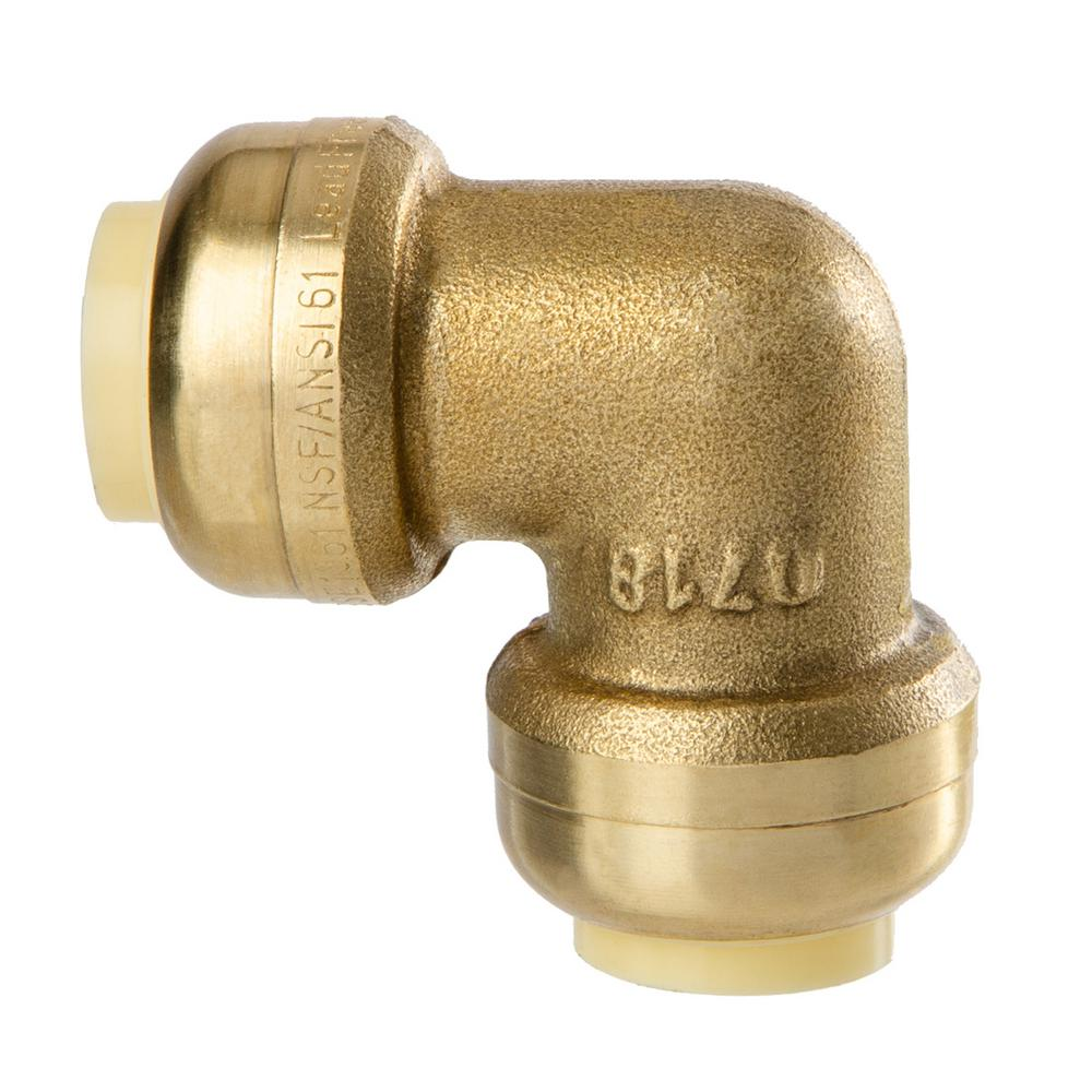 Push To Connect Fittings >> Littlewell 1 2 In Brass 90 Degree Push Fit Elbow Fitting