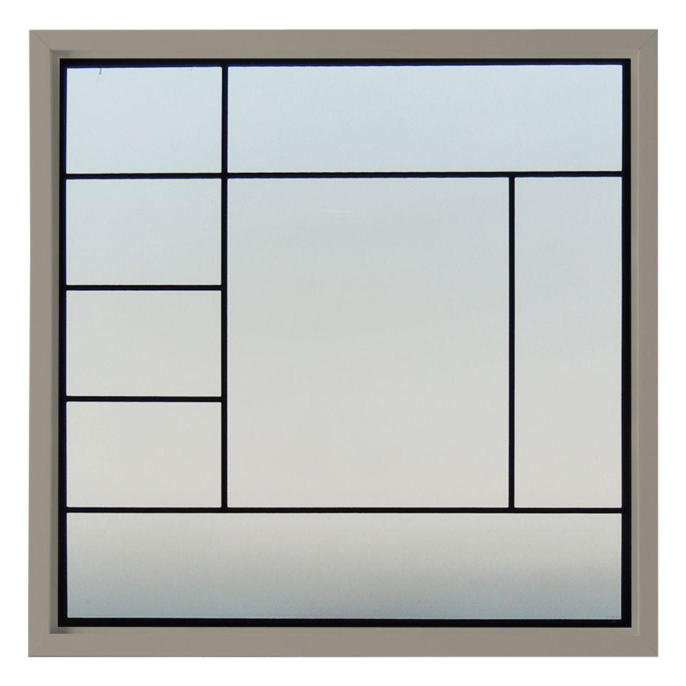 47.5 in. x 47.5 in. Metro Decorative Glass Picture Vinyl Window
