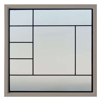 47.5 in. x 47.5 in. Metro Decorative Glass Picture Vinyl Window - Driftwood