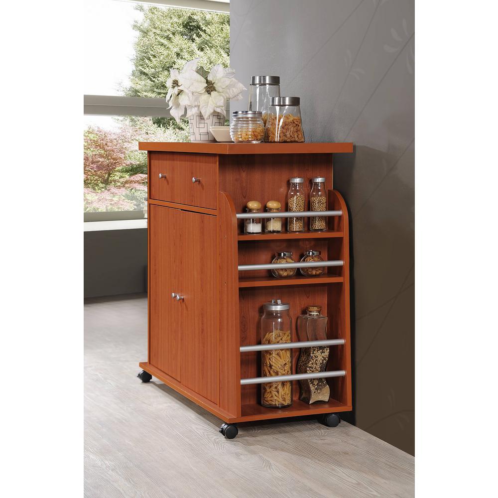 Kitchen Island Storage With Spice Rack Cherry Pantry