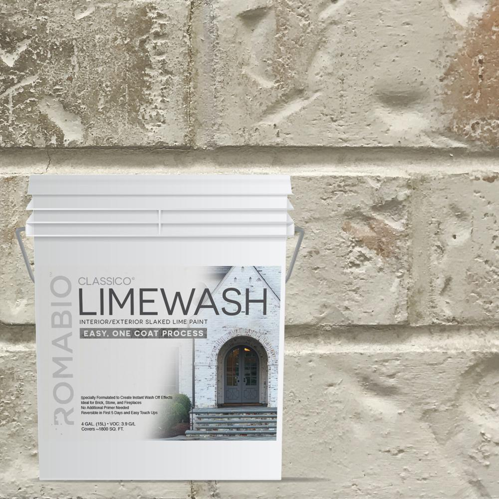 4 Gal Nube Gray Limewash Interior Exterior Paint 101154 The Home Depot