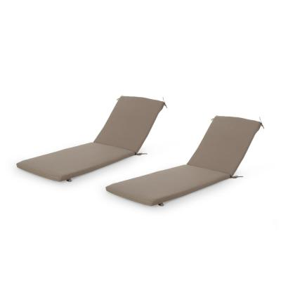 Cape Coral 25.25 in. x 2 in. 2-Piece Outdoor Lounge Chair Cushion in Khaki