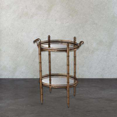 Tyrella Antique Gold Tray Side Table