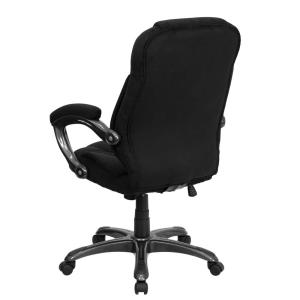 Internet 301745393 Flash Furniture High Back Black Microfiber Contemporary Executive Swivel Office Chair