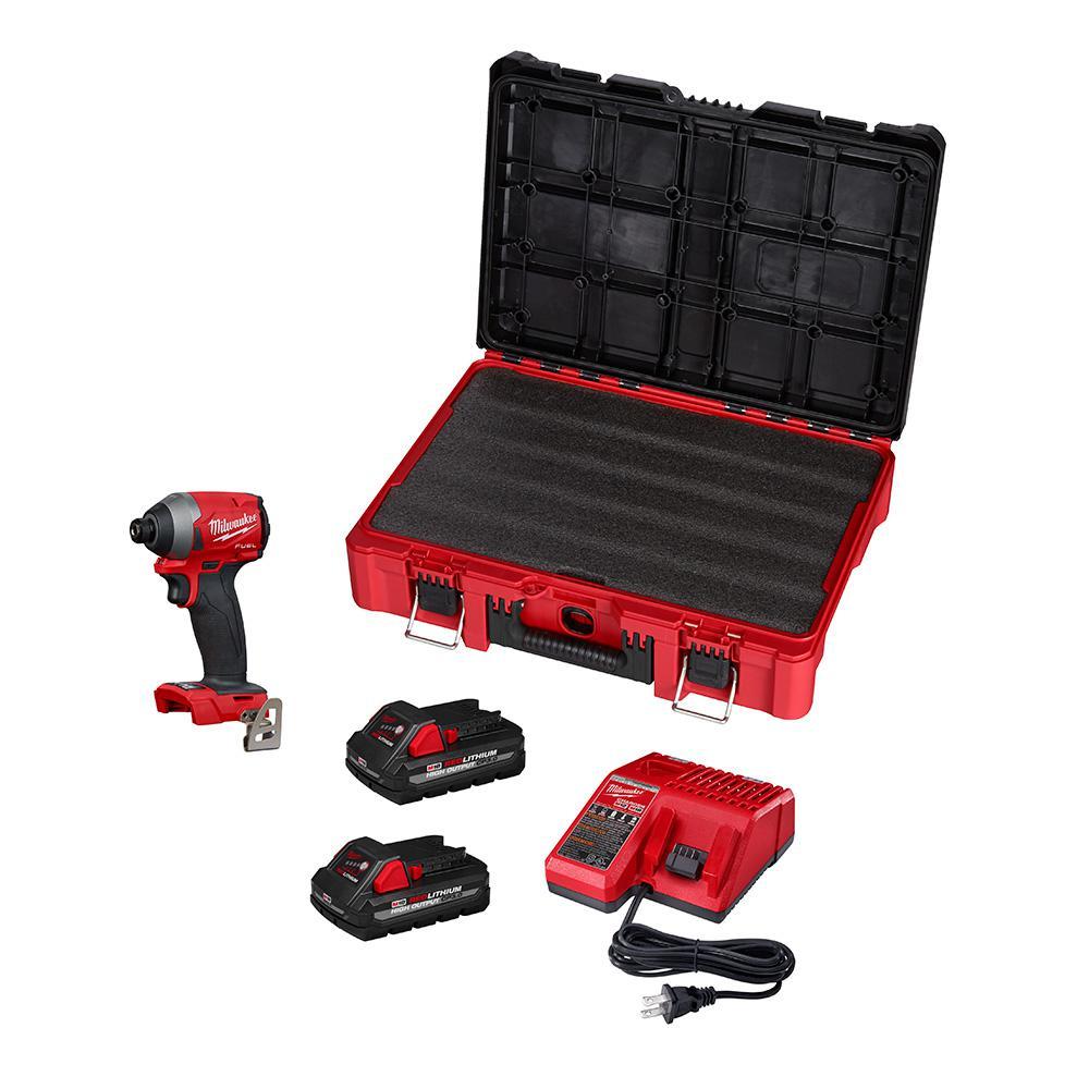 Deals on Milwaukee M18 FUEL 18-Volt Cordless Hex Impact Driver w/2 Batteries