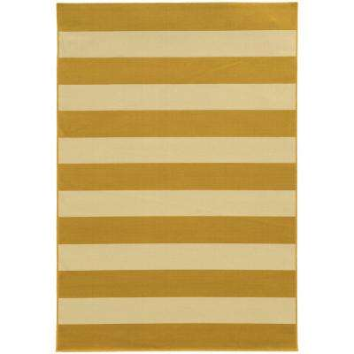 Nantucket Goldenrod 4 ft. x 6 ft. Indoor/Outdoor Area Rug