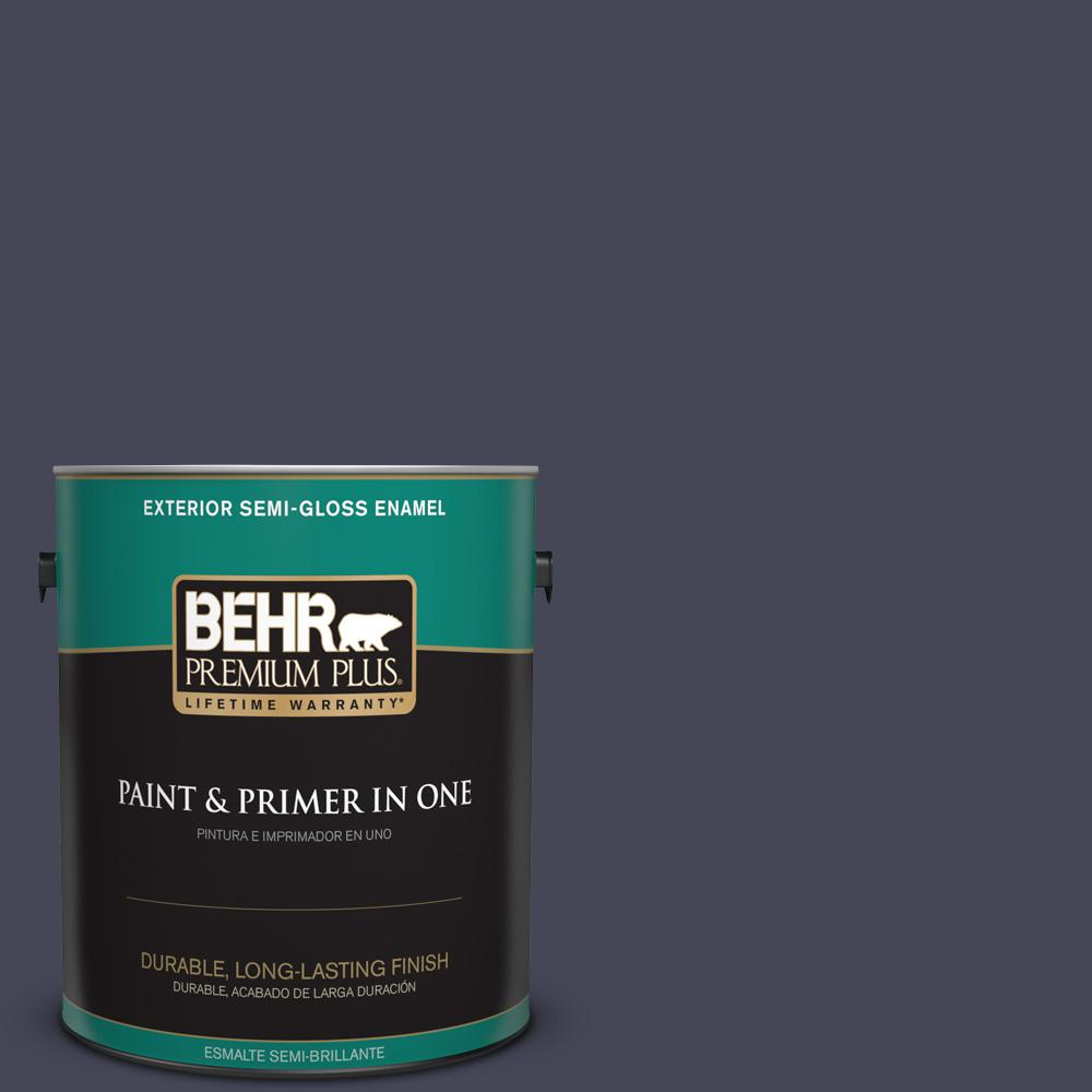 1 gal. #PPU15-19 Black Sapphire Semi-Gloss Enamel Exterior Paint
