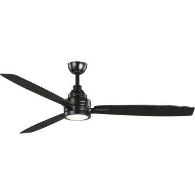 Gaze 60 in. LED 3-Blade Ceiling Fan with Light