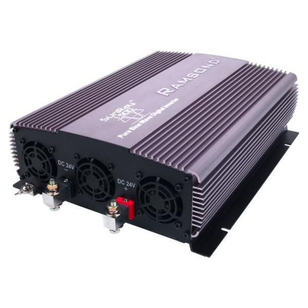 CARRYBATT Pure Sine Power Inverter 1500W DC 24V to AC 240V Converter with 5 Meter Remote Control with Dual AC outlet /&2.1A USB Port-Peak Power 3000 Watt with LCD