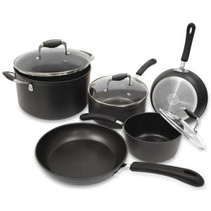 Ecolution Symphony 8-Piece Slate Cookware Set with Lids by Ecolution